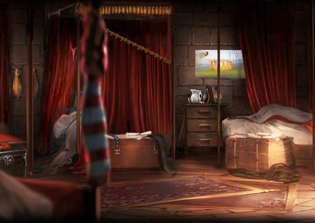Gryffindor Dormitory Rainy Audio Atmosphere