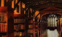 Hogwarts Library - Rainy Day