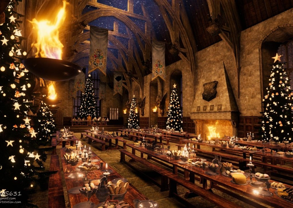 Christmas Dinner Party.A Chill Christmas Dinner Party In The Great Hall Audio