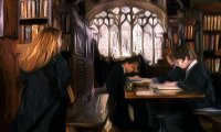 A quieter Hogwarts library