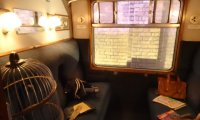 Reading on the Hogwarts Express during a storm