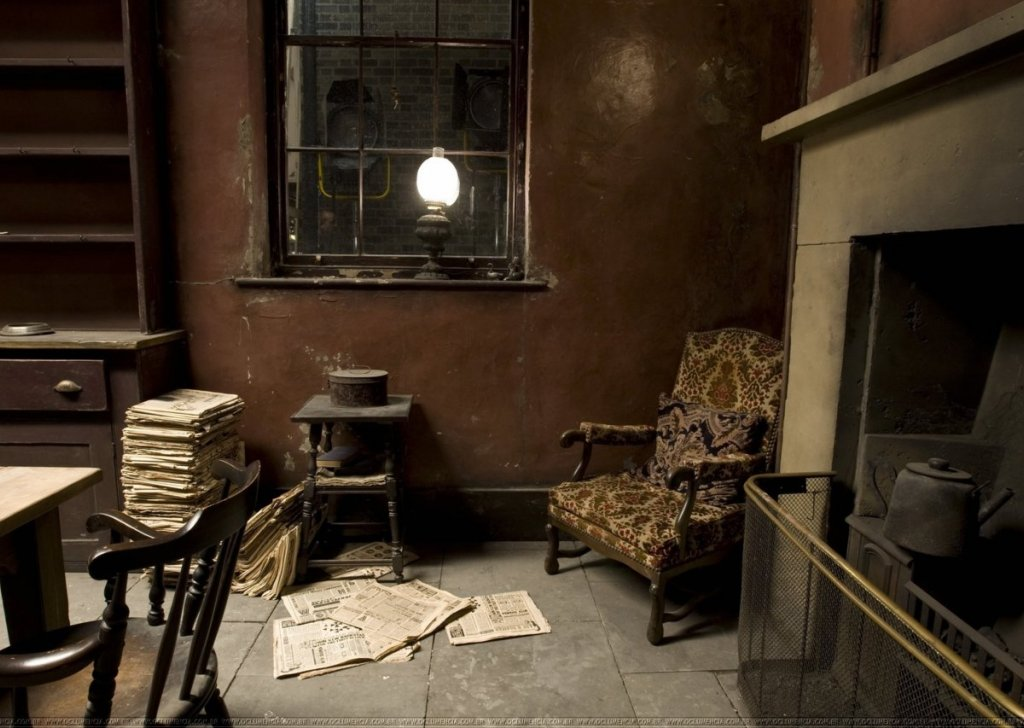 Sirius Black Is Reading The Newspaper And Tinkering Around