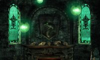 Calm Slytherin study in common room