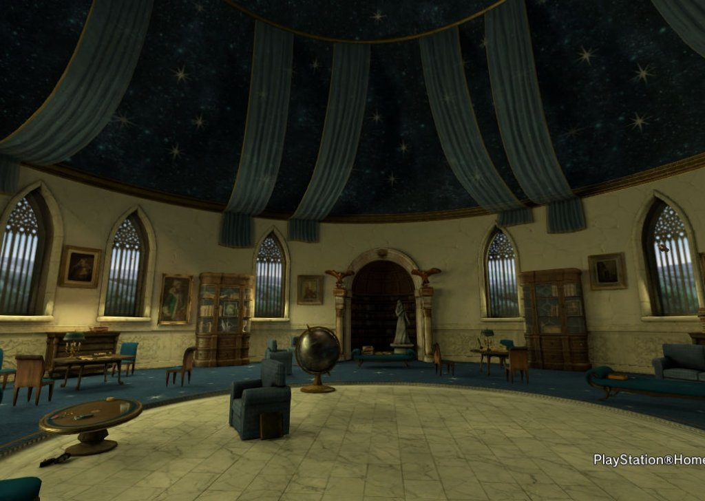 Occupied Ravenclaw Common Room, midday audio atmosphere